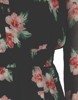 Ruffle Detail Floral Dress