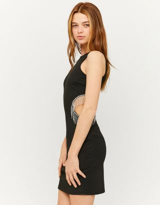 Cut-out Rhinestone Bodycon Dress