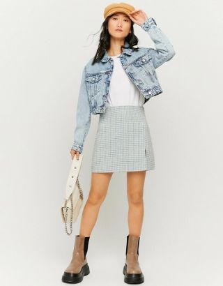 Cropped Washed Out Denim Jacket