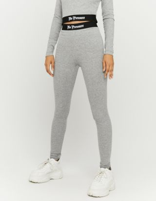 Grey Elasticated Waist Leggings
