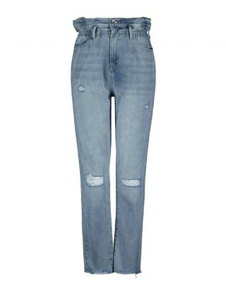 High Waist Slim Paperbag Jeans