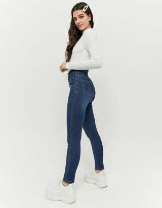 Very High Waist Corset Skinny Jeans
