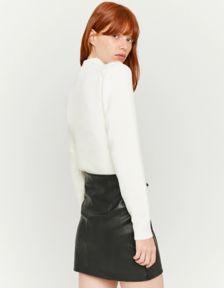 Faux Leather Fitted Mini Skirt