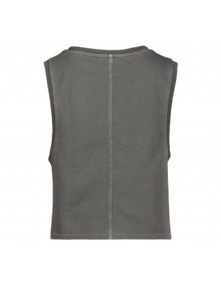 Gray Fleece Crop Top