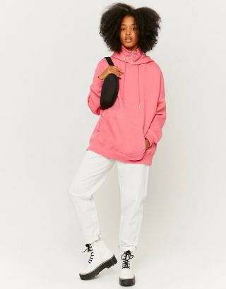 High Neck Oversized Hoodie