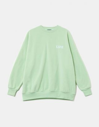 Ligh Green Oversized Sweatshirty