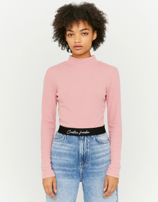 Top with Printed Waistband