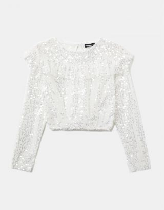 Mesh & Sequins Blouse